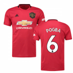 2019-2020 Man Utd Adidas Home Football Shirt (Kids) (POGBA 6)