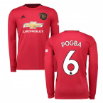 2019-2020 Man Utd Adidas Home Long Sleeve Shirt (POGBA 6)
