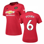 2019-2020 Man Utd Adidas Womens Home Shirt (POGBA 6)