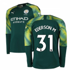 2019-2020 Manchester City Puma Home LS Goalkeeper Shirt (Green) (EDERSON M 31)