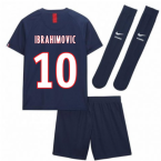 2019-2020 PSG Home Nike Little Boys Mini Kit (IBRAHIMOVIC 10)