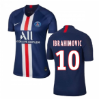 2019-2020 PSG Home Nike Womens Football Shirt (IBRAHIMOVIC 10)