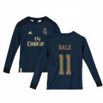 2019-2020 Real Madrid Adidas Away Long Sleeve Shirt (Kids) (BALE 11)
