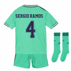 2019-2020 Real Madrid Adidas Third Full Kit (Kids) (SERGIO RAMOS 4)