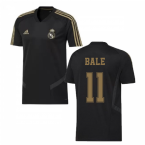 2019-2020 Real Madrid Adidas Training Shirt (Black) (BALE 11)