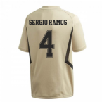 2019-2020 Real Madrid Adidas Training Shirt (Gold) (SERGIO RAMOS 4)