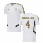 2019-2020 Real Madrid Adidas Training Shirt (White) (SERGIO RAMOS 4)