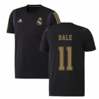 2019-2020 Real Madrid Adidas Training Tee (Black) - Kids (BALE 11)