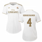 2019-2020 Real Madrid Adidas Womens Home Shirt (SERGIO RAMOS 4)