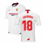2019-2020 Sevilla Home Nike Football Shirt (ESCUDERO 18)
