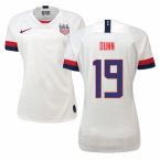 2019-2020 USA Home Nike Womens Shirt (Dunn 19)