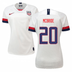 2019-2020 USA Home Nike Womens Shirt (McBride 20)