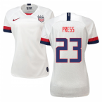 2019-2020 USA Home Nike Womens Shirt (Press 23)