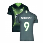2019-2020 VFL Wolfsburg Home Nike Football Shirt (WEGHORST 9)