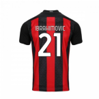 2020-2021 AC Milan Puma Home Football Shirt (IBRAHIMOVIC 11)