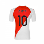 2020-2021 AS Monaco Kappa Home Shirt (JOVETIC 10)