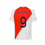 2020-2021 AS Monaco Kappa Home Shirt (Kids) (Ben Yedder 9)