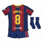 2020-2021 Barcelona Home Nike Baby Kit (A.INIESTA 8)