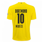 2020-2021 Borussia Dortmund Puma Authentic Home Football Shirt (M.GOTZE 10)