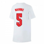 2020-2021 England Nike Evergreen Crest Tee (White) - Kids (Maguire 5)