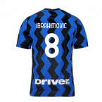 2020-2021 Inter Milan Home Nike Football Shirt (IBRAHIMOVIC 8)