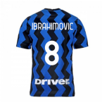 2020-2021 Inter Milan Home Nike Football Shirt (Kids) (IBRAHIMOVIC 8)
