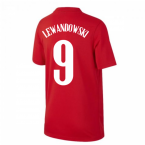 2020-2021 Poland Away Supporters Jersey (Kids) (LEWANDOWSKI 9)