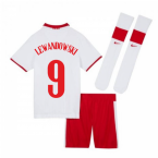 2020-2021 Poland Home Mini Kit (LEWANDOWSKI 9)