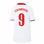 2020-2021 Poland Home Nike Football Shirt (Kids) (LEWANDOWSKI 9)
