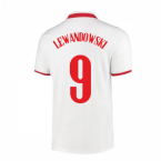 2020-2021 Poland Home Nike Football Shirt (LEWANDOWSKI 9)