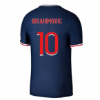 2020-2021 PSG Authentic Vapor Match Home Nike Shirt (IBRAHIMOVIC 10)