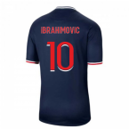 2020-2021 PSG Home Nike Football Shirt (IBRAHIMOVIC 10)