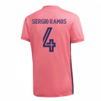 2020-2021 Real Madrid Adidas Away Football Shirt (SERGIO RAMOS 4)