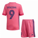2020-2021 Real Madrid Adidas Away Full Kit (Kids) (BENZEMA 9)