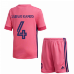 2020-2021 Real Madrid Adidas Away Full Kit (Kids) (SERGIO RAMOS 4)