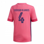 2020-2021 Real Madrid Adidas Away Shirt (Kids) (SERGIO RAMOS 4)