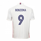 2020-2021 Real Madrid Adidas Home Football Shirt (BENZEMA 9)