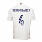 2020-2021 Real Madrid Adidas Home Football Shirt (SERGIO RAMOS 4)