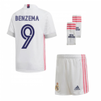 2020-2021 Real Madrid Adidas Home Full Kit (Kids) (BENZEMA 9)