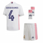 2020-2021 Real Madrid Adidas Home Full Kit (Kids) (SERGIO RAMOS 4)