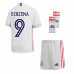 2020-2021 Real Madrid Adidas Home Mini Kit (BENZEMA 9)