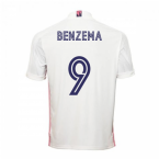 2020-2021 Real Madrid Adidas Home Shirt (Kids) (BENZEMA 9)
