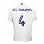 2020-2021 Real Madrid Adidas Home Shirt (Kids) (SERGIO RAMOS 4)