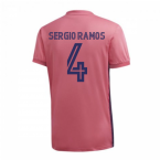 2020-2021 Real Madrid Adidas Womens Away Shirt (SERGIO RAMOS 4)