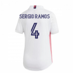 2020-2021 Real Madrid Adidas Womens Home Shirt (SERGIO RAMOS 4)