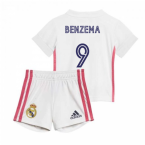 2020-2021 Real Madrid Home Baby Kit (BENZEMA 9)