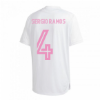 2020-2021 Real Madrid Training Shirt (White) (SERGIO RAMOS 4)