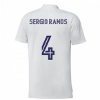 2020-2021 Real Madrid Training Tee (White) (SERGIO RAMOS 4)