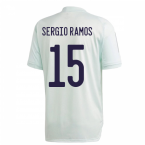 2020-2021 Spain Adidas Training Jersey (Dash Green) (SERGIO RAMOS 15)