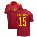 2020-2021 Spain Home Adidas Football Shirt (Kids) (SERGIO RAMOS 15)